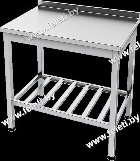 Столы производственные с отбортовкой