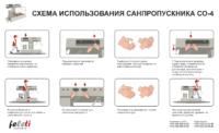 Санпропускник / Станция гигиены рук и обуви SO-4
